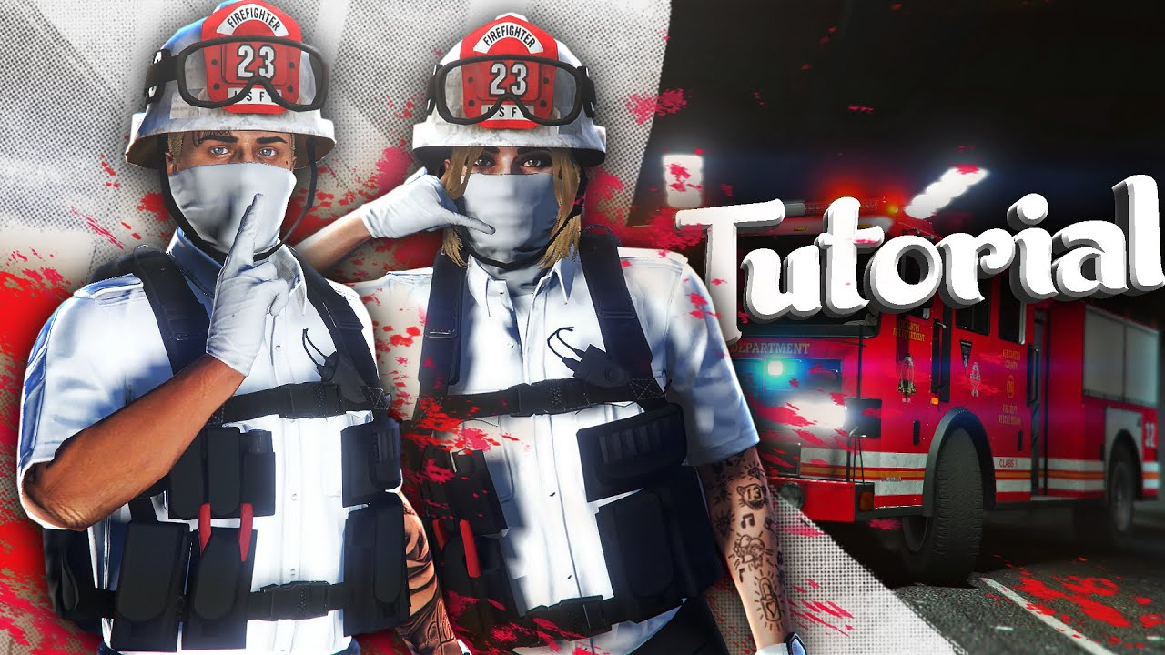 GTA 5 ONLINE  - FIREFIGHTER OUTFIT TUTORIAL MALE/FEMALE