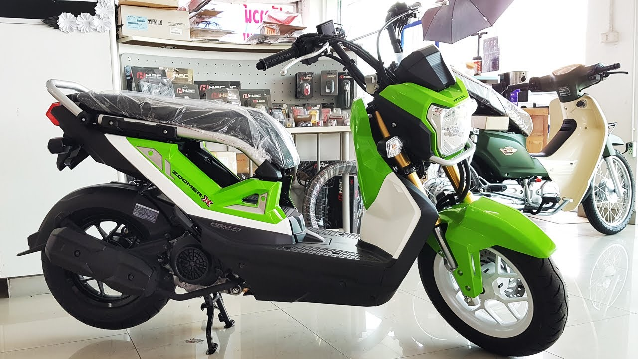 Citaten Zomer X : New honda zoomer สีเขียว ดำ youtube