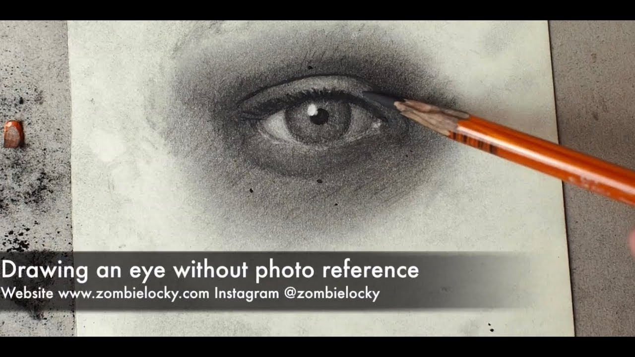 tips on how to draw realistic eyes in charcoal without photo