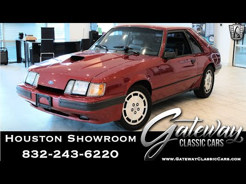 1985 Ford Mustang SVO For Sale Gateway Classic Cars #1681 Houston Showroom