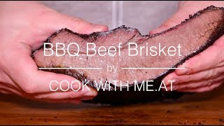 BBQ Beef Brisket - Smoked on the Big Green Egg MiniMax - COOK WITH ME.AT