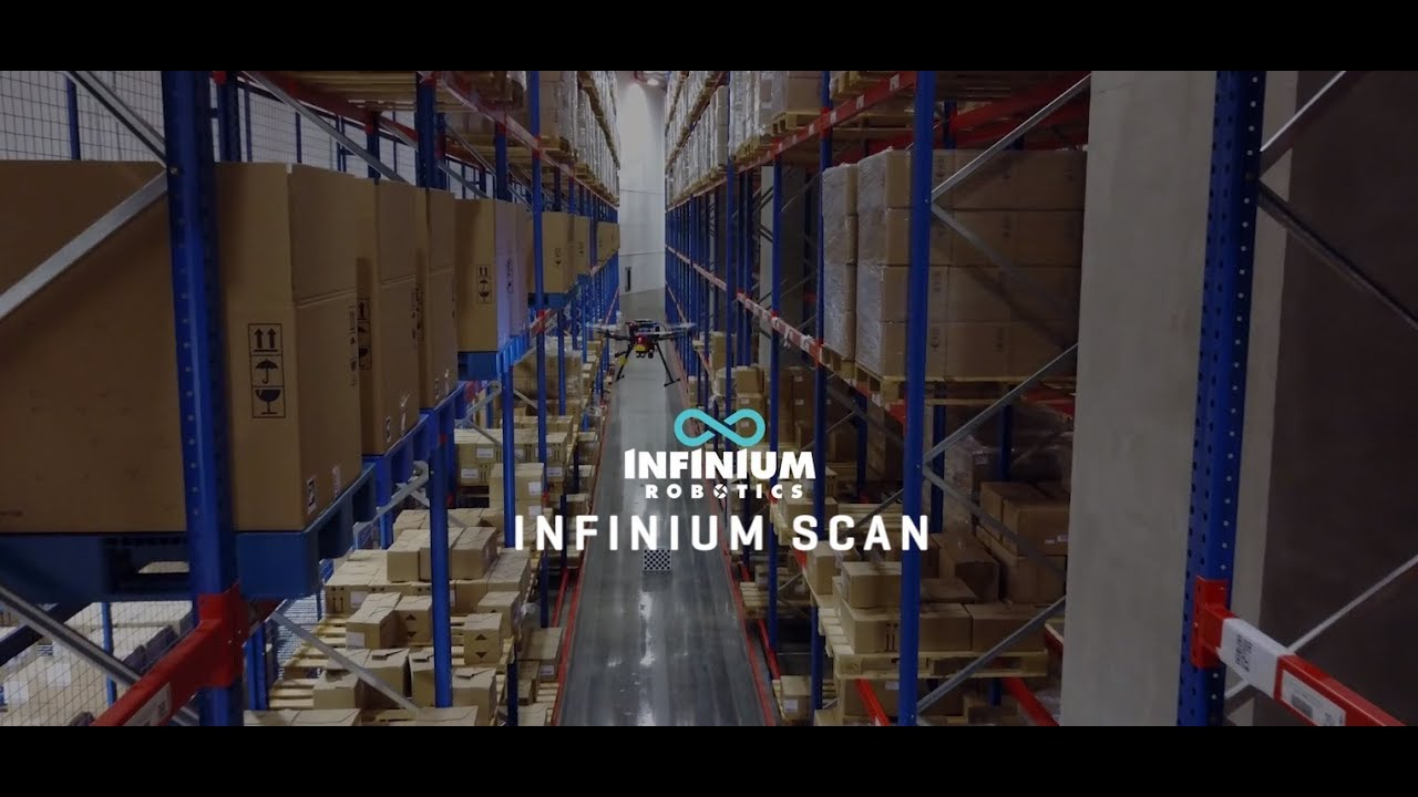Infinium Scan Promotional Video - World's First Fully autonomous warehouse  drone stock-taking system