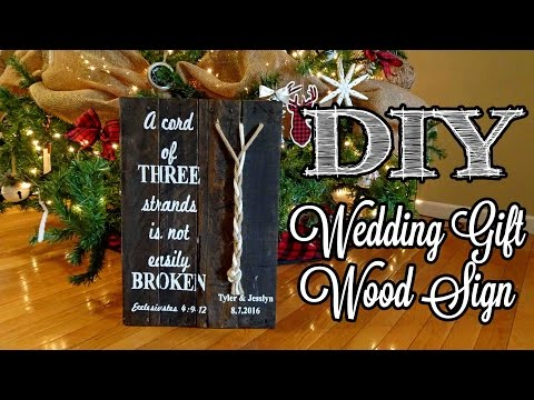 *DIY* Pallet Sign   With Rope Accent