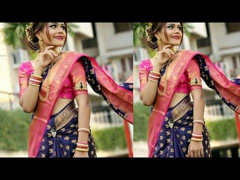 Maharashtrian Nauri (shalu ) Saree's Collection// Best Colour Contrast Of Wedding Special Saree's//