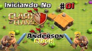 INICIANDO NO CLASH OF CLANS! #01 SEGUNDA TEMPORADA