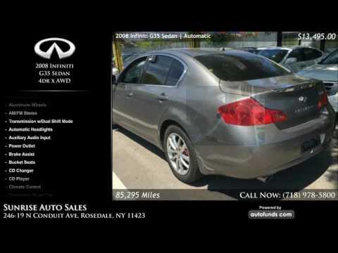 Used 2008 Infiniti G35 Sedan | Sunrise Auto Sales, Rosedale, NY