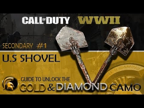 Call Of Duty WW2 - (GOLD/DIAMOND Camo) #1 US SHOVEL (How To Get Bloodthirsty) (Backfire)
