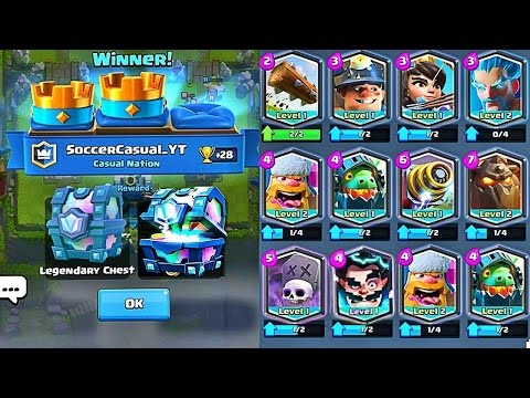 HOW TO GET FREE LEGENDARY CARDS IN CLASH ROYALE! BEST WAY TO GET LEGENDARY CARDS!!