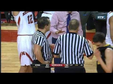 Horrible officiating Iowa vs Nebraska Basketball.  How did this basket count?