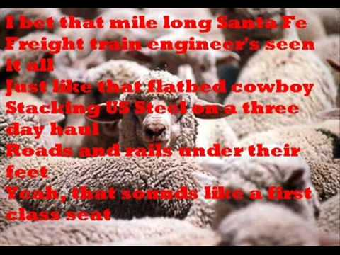 Fly Over States by Jason Aldean w/t lyrics on the screen