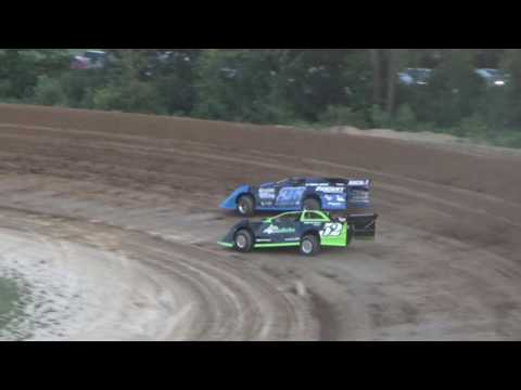 Late Model Heat Race #3 at Crystal Motor Speedway on 08-06-16.