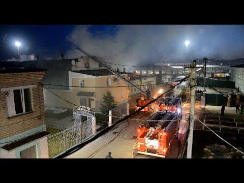 Пожар в костромской колонии: от огня пострадало 500 кв.метров