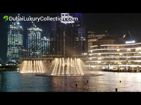 Dubai Fountain at Burj Khalifa Lake, UAE (United Arab Emirates) 2019 ~ DubaiLuxuryCollection.Com ☘