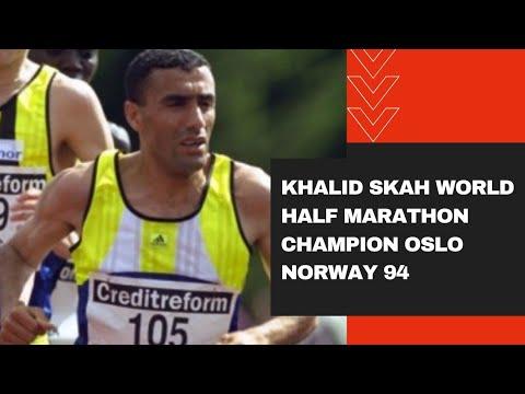 Khalid Skah World half marathon Champion Oslo Norway 94