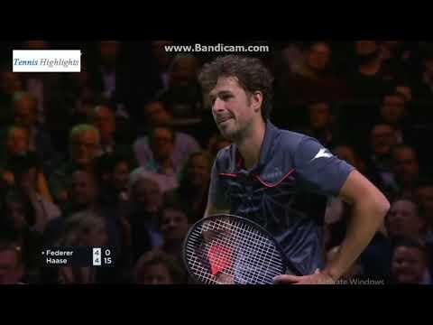 Roger Federer vs Robin Haase 2018 Rotterdam QF Highlights