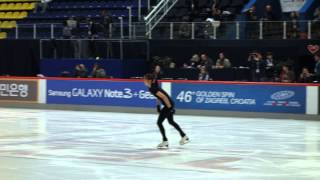 """Send in the Clowns"" Official Run-through - Yuna Kim (Yu-na Kim) @ Golden Spin of Zagreb, 20131204"