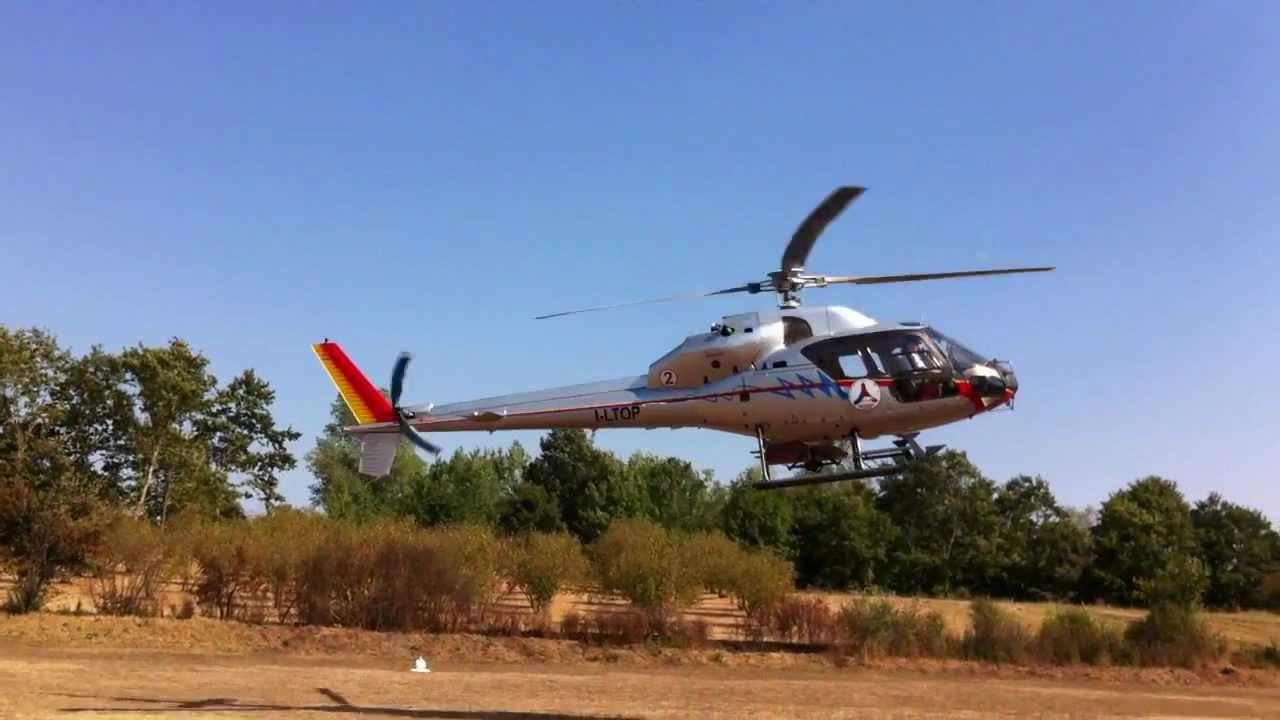 Elicottero 355 : Aviosuperficie alisoriano atterraggio ecureuil as della
