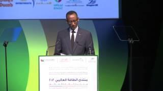 President Kagame addresses World Energy Forum 2012 in Dubai- UAE, 22 October 2012