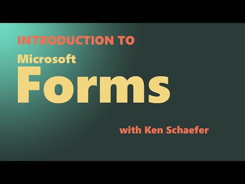 Introduction to Microsoft Forms thumbnail