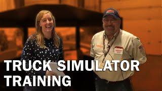 Truck simulator training at Schneider orientation