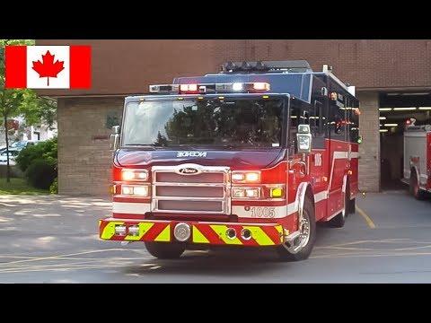 Downtown | *Rare Catch* Montréal Fire Department (SIM) COMMAND POST 1005 Responding From Quarters