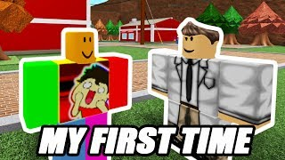 THE FIRST TIME I PLAY ROBLOX | ROBLOX #1