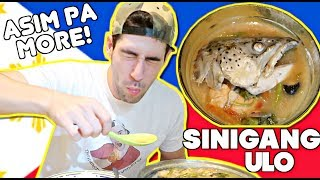 First Time COOKING & EATING Sinigang Ulo ng Salmon! ASIM PRE!🤤🇵🇭