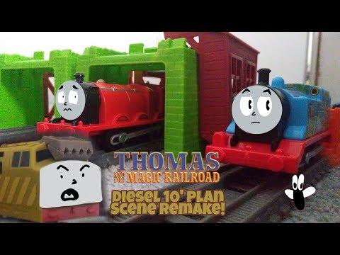 Thomas And The Magic Railroad | Diesel 10's Plan Scene! (Trackmaster, TOMY, Plarail) 10,000 VIEWS!