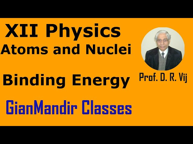 XII Physics | Atoms and Nuclei | Binding Energy by Poonam Ma'am