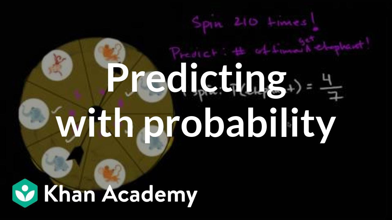 Language At 3 Predicts 3rd Grade >> Making Predictions With Probability Video Khan Academy