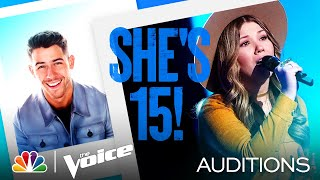 "Fifteen-Year-Old Rachel Mac Sings Patty Griffin's ""Let Him Fly"" - The Voice Blind Auditions 2021"
