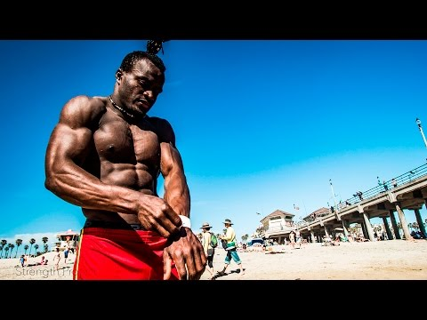 Sékou, The Tumbling Beast from West Africa visits Strength Project Huntington Beach