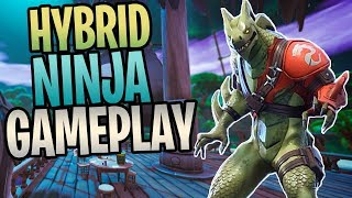 FORTNITE - New HYBRID Legendary Ninja Save The World Gameplay (New Fire Element Ability)