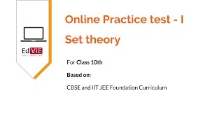 Free Practice test  for Set Theory topic of CBSE 10th class - Mathematics