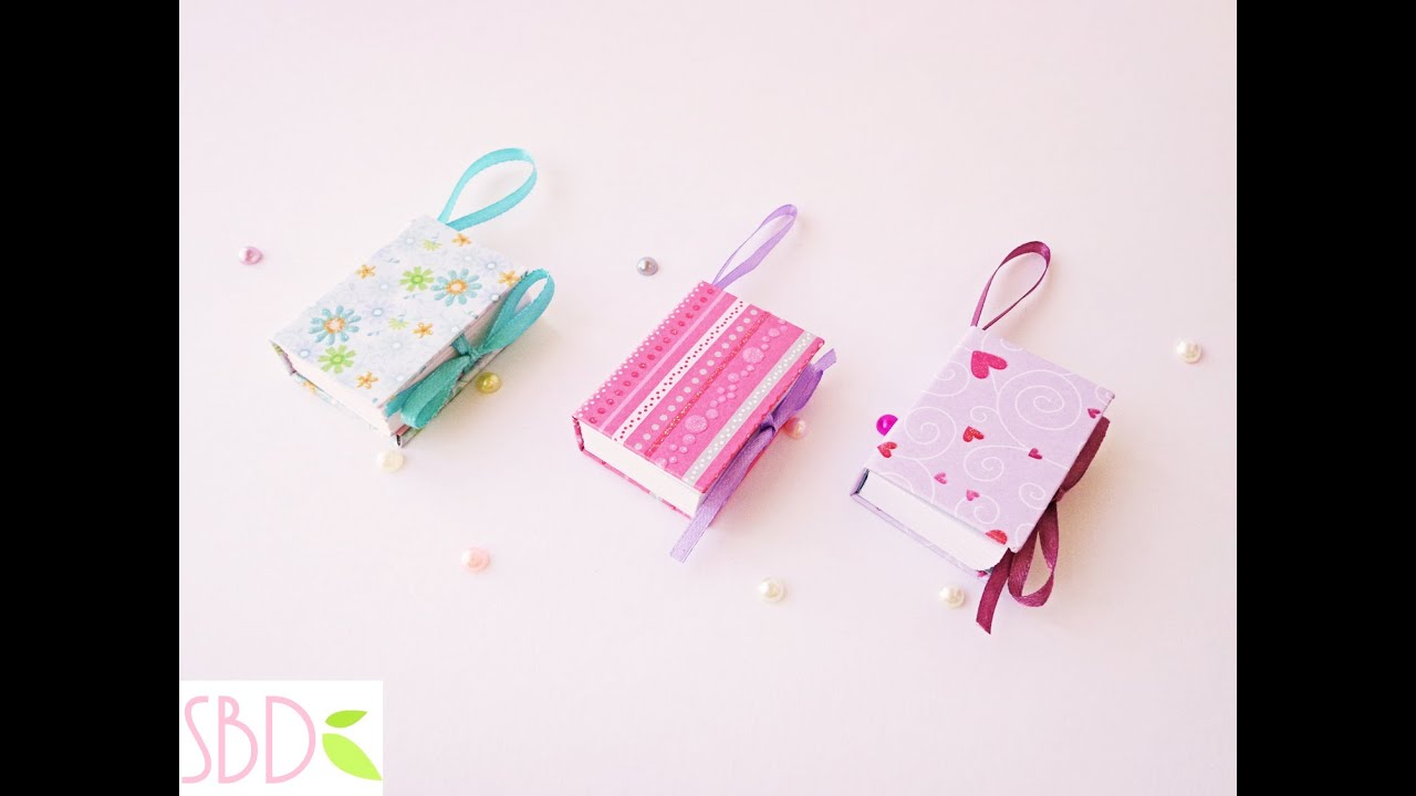 Papercraft Mini notebook portatili Tutorial - ENG SUBS DIY Mini Notebooks