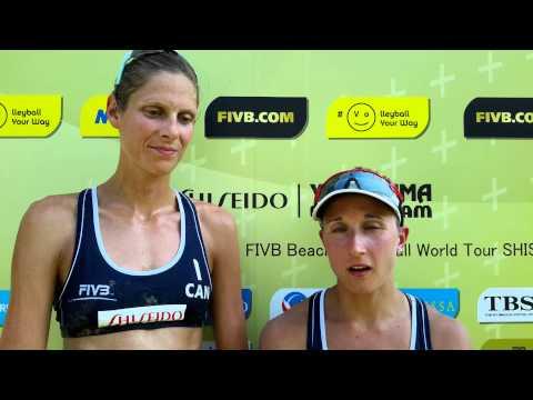 FIVB Yokohama Grand Slam - Heather Bansley and Sarah Pavan (CAN)