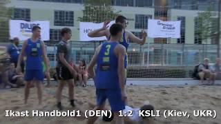 Beach handball. Ikast Handbold1 (DEN) - KSLI (Kiev, UKR). GENERATION HANDBALL-2018 Viborg. U16B.