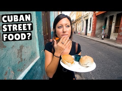 CUBAN STREET FOOD | What locals eat in Cuba | Havana Travel Vlog