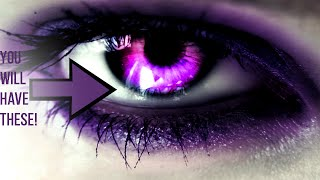 This video changes your eye color to purple after watching for a month! (subliminallysubliminal)