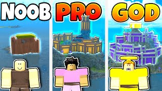 Roblox NOOB vs PRO vs GOD ULTIMATE BASE BUILD in BOOGA BOOGA