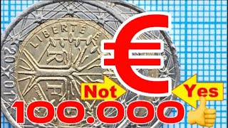France 2 euro 2001 Defect Signs on French euro coins RARE Expensive top 2 euro