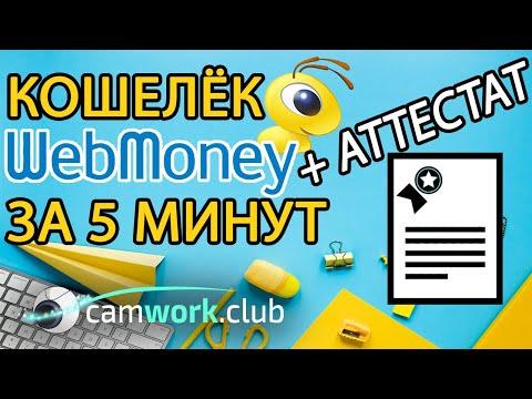 Как создать WebMoney кошелек и получить АТТЕСТАТ