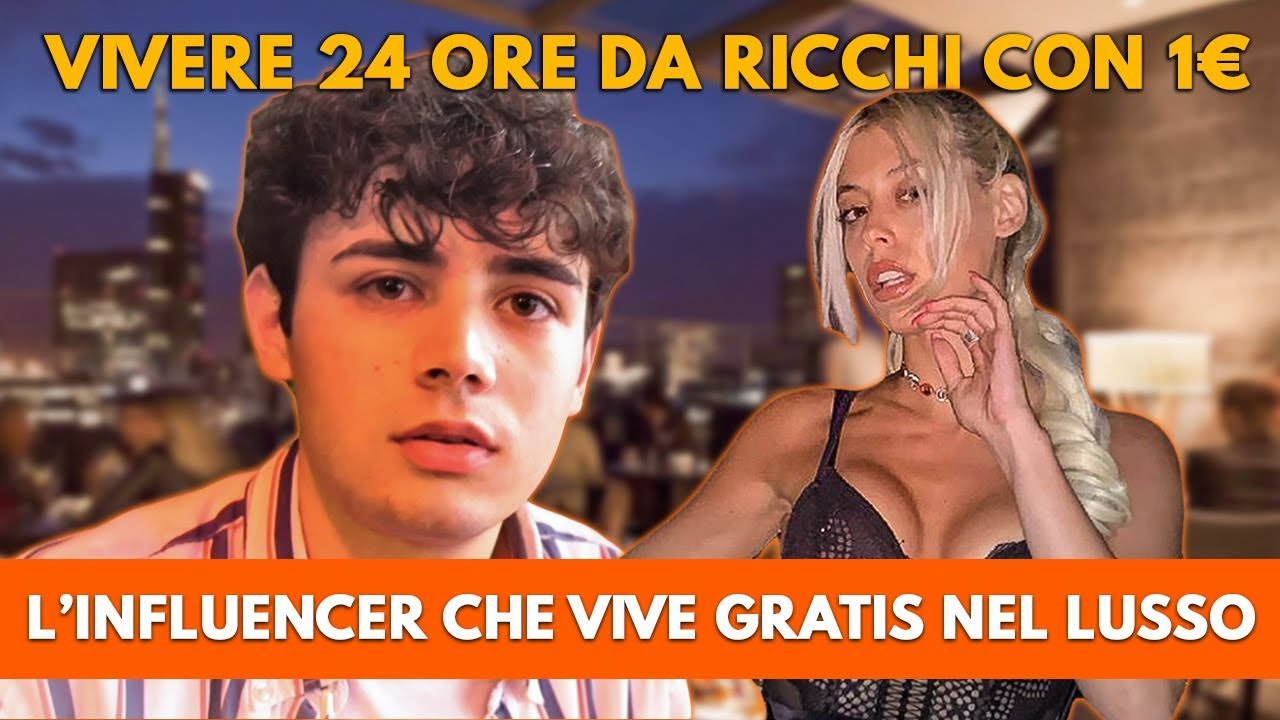 VIVERE 24 ORE DA RICCHI CON 1€ FACENDO L'INFLUENCER - Social Nettuorc con Vagnato