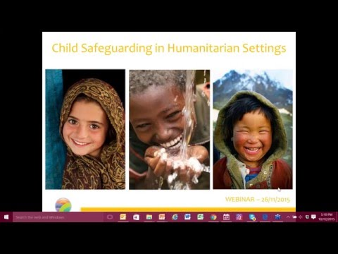 Webinar: Child Safeguarding in Humanitarian Settings