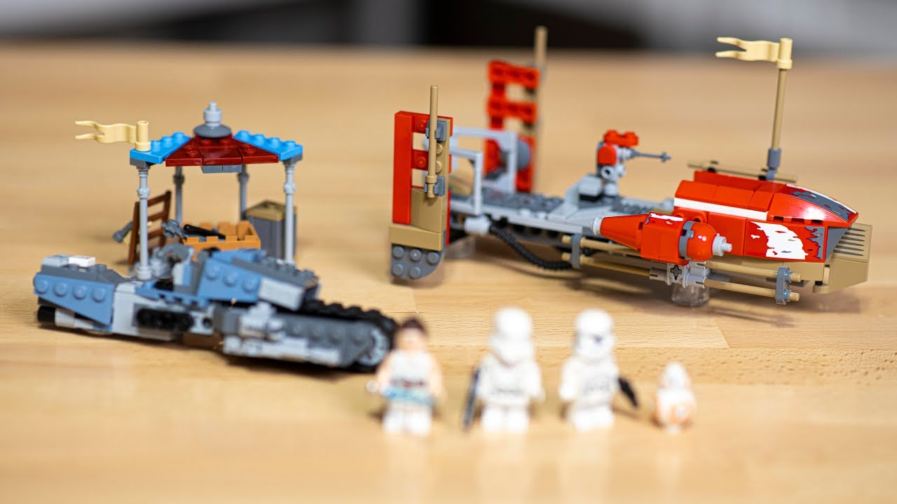 Lego Star Wars Pasaana Speeder Chase Review 75250 Youtube