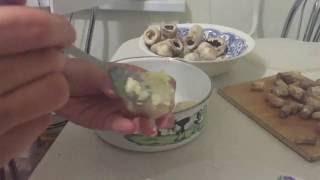 Простой рецепт // шампиньоны с сыром на мангале