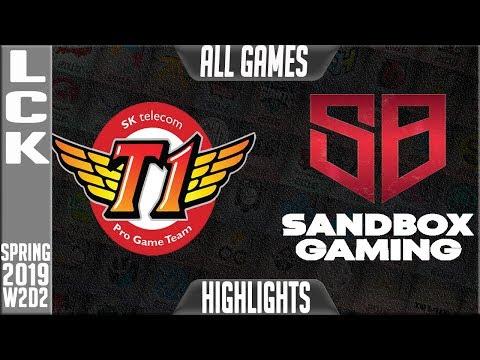 SKT vs SB Highlights ALL GAMES | LCK Spring 2019 Week 2 Day 2 | SK Telecom T1 vs Sandbox Gaming