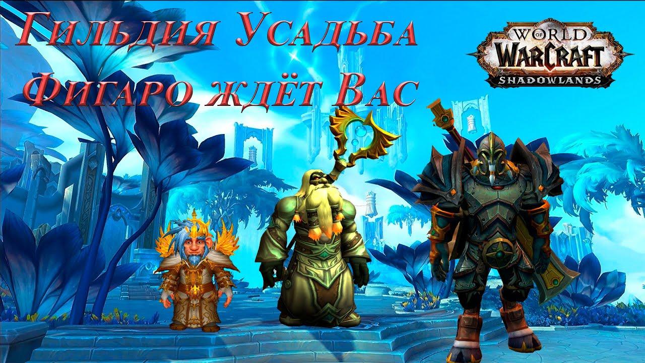 """Гильдия """"Усадьба Фигаро"""" открывает свои двери для покорения World of Warcraft  Shadowlands"""