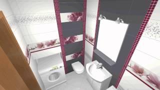Керамическая плитка paradyz abrila в ванной стильный 3D дизайн.http://mnogoplitki.by/(, 2015-02-10T19:49:12.000Z)