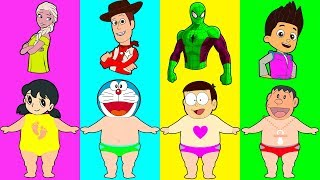 Wrong Dress Doraemon Nobita Elsa Paw Patrol Spiderman Toys Story ...